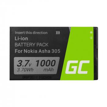 Bateria Green Cell BL-4U do telefonu Nokia 206 E66 500 3120 5530 5730