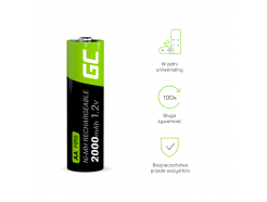 Green Cell 4x Akumulator AA HR6 2000mAh