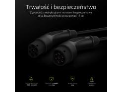 Kabel Green Cell do ładowania samochodów elektrycznych 5m Typ 2 22kW 32A 3-fazowy