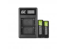 2x Bateria NP-FM500H Ładowarka BC-V615 | AC-VL1 Green Cell ® do Sony A58, A57, A65, A77, A99, A900, A700, A580, A56,0 A55,0 A850