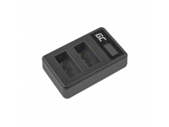 2x Bateria LP-E17 i Podwójna ładowarka LC-E17 Green Cell ® do Canon EOS 750D, 760D, 8000D, M3, M5, M6, Rebel T6i, T6s 1000mAh