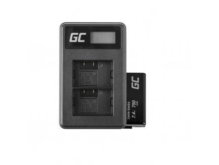 2x Bateria DMW-BMB9 i Podwójna ładowarka DE-A83 Green Cell ® do Panasonic DMW-MBM9, Lumix DMC-FZ70, DMC-FZ60, DMC-FZ100