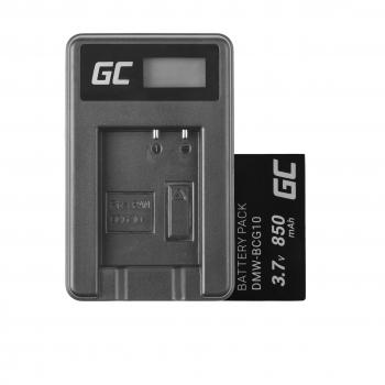 Bateria DMW-BCG10 i Ładowarka DE-A65BB Green Cell ® do Panasonic Lumix DMC-TZ10 DMC-TZ20 DMC-TZ30 DMC-ZS5 DMC-ZS10 3.7V 850mAh