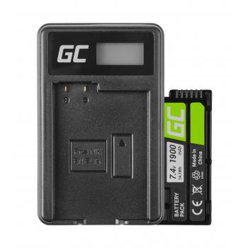 Bateria EN-EL15 i Ładowarka MH-25 Green Cell ® do Nikon D850 D810 D800 D750 D7500 D7200 D7100 D610 D600 7.4V 1900mAh