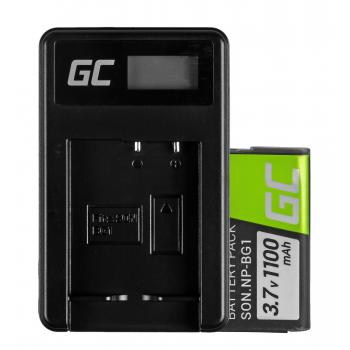 Bateria NP-BG1/NP-FG1 i Ładowarka BC-CSG Green Cell ® do Sony DSC H10, H20, H50, HX5, HX10, T50, W50, W70 3.7V 950mAh