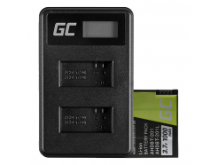 Bateria Green Cell ® AHDBT-201 Ładowarka AHBBP-301 do GoPro Hero HD 3 3+ Black Silver White 1000mAh