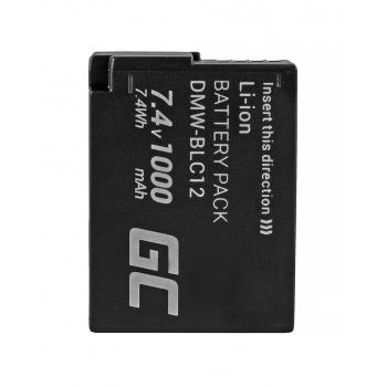 Akumulator Bateria Green Cell® DMW-BLC12E do Panasonic Lumix G5 G5X G6 G7 G80 DMC FZ300 FZ1000 FZ2000 Full Decoded 1000mAh