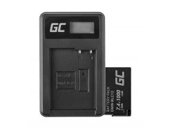 Bateria DMW-BLC12 i Ładowarka DE-A79B Green Cell ® do Panasonic FZ2000, G81, FZ1000, FZ300, G6M, GX8M, G70M, G70KA, GX8, G70