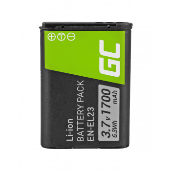Bateria Green Cell ® EN-EL23 do Nikon Coolpix B700, P600, P610, P900, S810C 3.7V 1700mAh