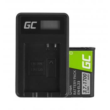Bateria EN-EL23 i Ładowarka MH-67 Green Cell ® do Nikon Coolpix B700, P600, P610, P900, S810C