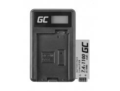Bateria LP-E8 i Ładowarka LC-E8 Green Cell ® do Canon Rebel T2i, T3i, T4i, T5i, EOS 600D, 550D, 650D, 700D, Kiss X5, X6 1100mAh