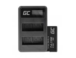 2x Bateria EN-EL14 i Ładowarka MH-24 Green Cell ® do Nikon D3200, D3300, D5100, D5200, D5300, D5500 P7000, P7700 7.4V 1100mAh