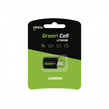 Green Cell Bateria Litowa CR123A 3V 1400mAh