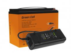 Akumulator litowo-żelazowo-fosforanowy LiFePO4 Green Cell 12.8V 42Ah zładowarką dopaneli solarnych, kamperów orazłodzi