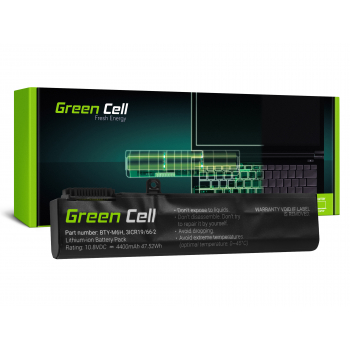Bateria Green Cell BTY-M6H do MSI GE62 GE63 GE72 GE73 GE75 GL62 GL63 GL73 GL65 GL72 GP62 GP63 GP72 GP73 GV62 GV72 PE60 PE70
