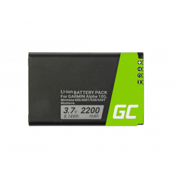 Bateria Green Cell® 361-00053-00 do GPS Garmin Alpha 100 Montana 600 610 650 680