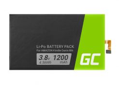 Bateria Green Cell 58-000124 1-756-769-11 1762A5 doczytnika e-book Amazon Kindle Oasis 8th, 1200 mAh