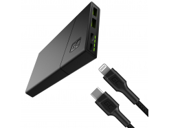 Zestaw do szybkiego ładowania iPhone | Power Bank GC PowerPlay10 + Kabel GC Power Stream