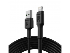 Kabel Green Cell GC PowerStream USB-A - Lightning 200 cm dla iPhone, iPad, iPod, Apple MFi Certified