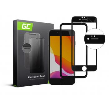 Szkło hartowane Dust Proof Green Cell GC Clarity do telefonu Apple iPhone 7/8/SE 2020/SE 2 - Czarny + aplikator