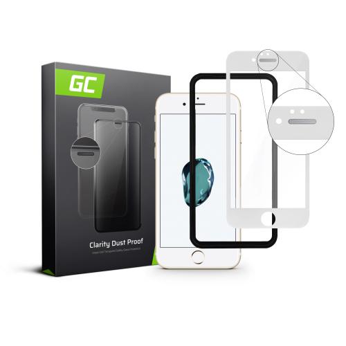 Szkło hartowane Green Cell Dust Proof GC Clarity do telefonu Apple iPhone 7/8/SE 2020/SE 2 - Biały + aplikator