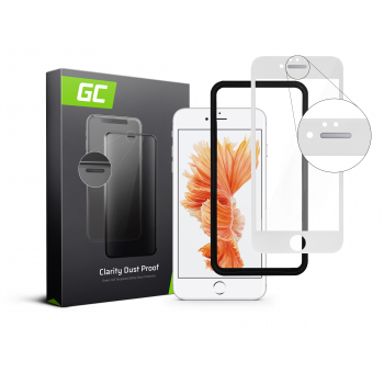 Szkło hartowane Green Cell Dust Proof GC Clarity do telefonu Apple iPhone 6/6S Plus - Biały + aplikator