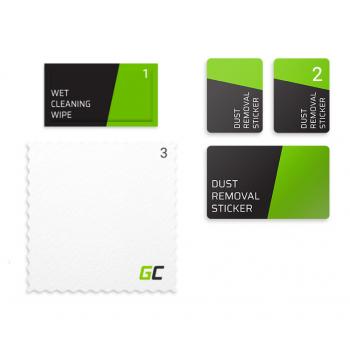 Szkło hartowane Green Cell Dust Proof GC Clarity do telefonu Apple iPhone 7 Plus, 8 Plus - Czarny + aplikator