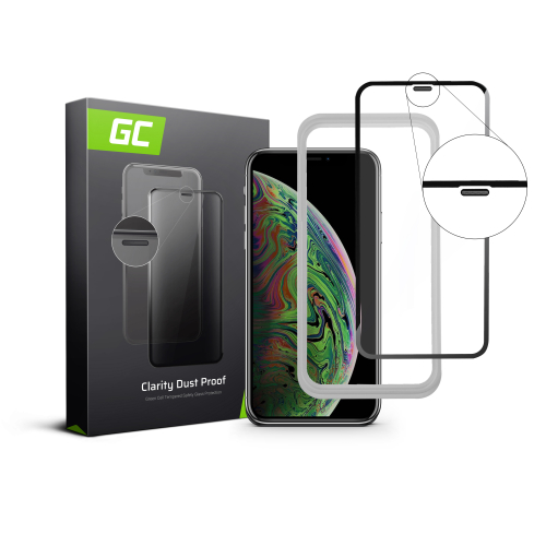 Szkło hartowane Green Cell Dust Proof GC Clarity do telefonu Apple iPhone XS Max + aplikator