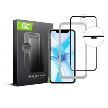 Szkło hartowane Green Cell Dust Proof GC Clarity do telefonu Apple iPhone 11 + aplikator