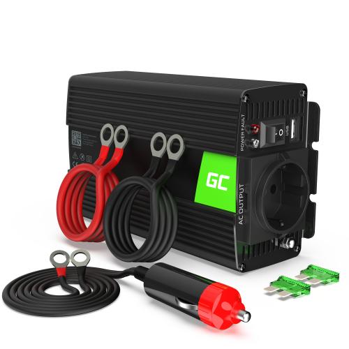 Samochodowa Przetwornica Napięcia Green Cell ® 12V do 230V, 300W/600W Pełna Sinusoida