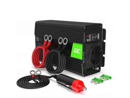 Przetwornica Samochodowa Green Cell ® 24V do 230V, 300W/600W Pełna Sinusoida
