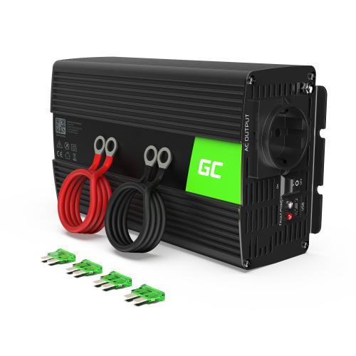 Samochodowa Przetwornica Napięcia Green Cell ®12V do 230V,1000W/2000W Pełna sinusoida