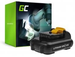 Bateria Akumulator (2.5Ah 10.8V) DCB120 DCB121 DCB123 Green Cell do DeWalt DCD710 DCF815 DCF813S2 DCD701F2 DCS310B