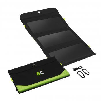 Green Cell Ładowarka solarna GC SolarCharge o mocy 21W Panel solarny z funkcją power banka 6400mAh 2xUSB