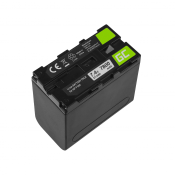Akumulator Bateria Green Cell NP-F960 NP-F970 NP-F975 do Sony 7.4V 7800mAh