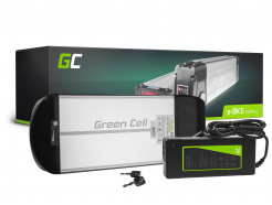 Green Cell® Bateria do Roweru Elektrycznego 36V 10Ah E-Bike Li-Ion Rear Rack z Ładowarką