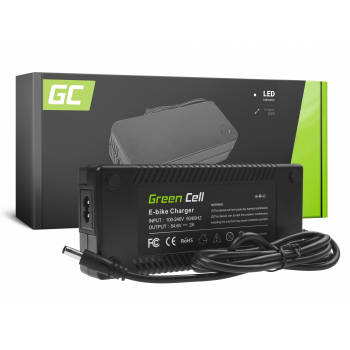 Green Cell® Ładowarka do Roweru Elektrycznego 48V E-Bike 54.6V 2A Li-Ion 5.5*2.1mm
