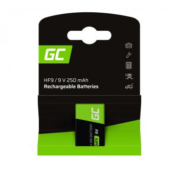 Baterie Akumulatorki 1x 9V HF9 Ni-MH 250mAh Green Cell
