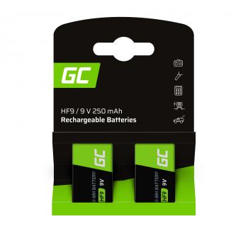 Baterie Akumulatorki 2x 9V HF9 Ni-MH 250mAh Green Cell