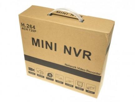 REJESTRATOR MINI NVR-100 4 KANAŁY HD 720p LINUX - VR01