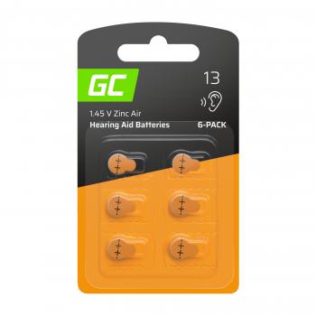 6x Bateria Green Cell do aparatów słuchowych Typ 13 P13 PR48 ZL2 ZincAir