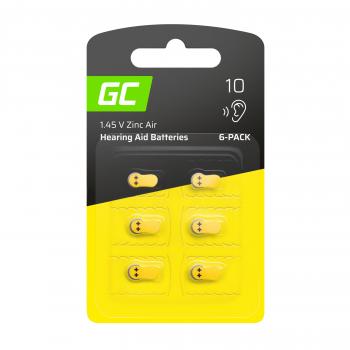 6x Bateria Green Cell do aparatów słuchowych Typ P10 PR70 ZL4 ZincAir