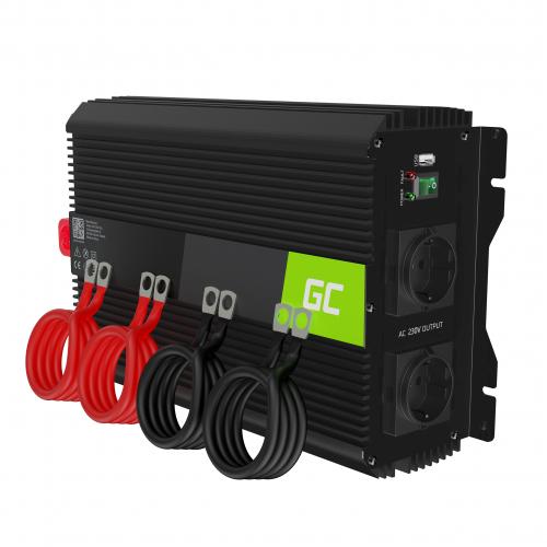 Przetwornica napięcia Inwerter Green Cell PRO 12V na 230V 2000W/4000W Modyfikowana sinusoida