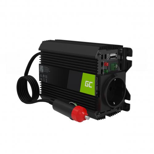Przetwornica napięcia Inwerter Green Cell PRO 12V na 230V 150W/300W Modyfikowana sinusoida