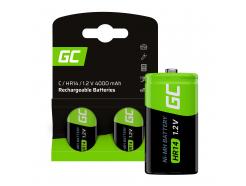 Baterie Akumulatorki 2x C R14 HR14 Ni-MH 1.2V 4000mAh Green Cell