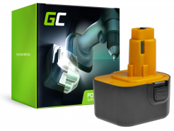 Bateria Green Cell (1.5Ah 12V) A9252 A9275 DE9037 DE9071 DE9074 DE9075 do DeWalt / Black&Decker KC120V KC1262F CD12C CD12CA
