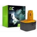 Bateria Green Cell (1.5Ah 12V) A9252 A9275 DE9037 DE9071 DE9074 DE9075 do DeWalt / Black&Decker KC120V KC1262F CD12C CD12CA