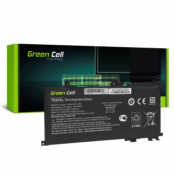 Bateria Green Cell TE03XL do HP Omen 15-AX052NW 15-AX055NW 15-AX075NW 15-AX099NW, HP Pavilion 15-BC402NW 15-BC408NW 15-BC411NW