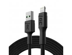 Kabel Przewód Green Cell GC PowerStream USB - Lightning 200cm szybkie ładowanie Apple 2.4A