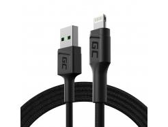 Kabel Przewód Green Cell GC PowerStream USB - Lightning 120cm szybkie ładowanie Apple 2.4A